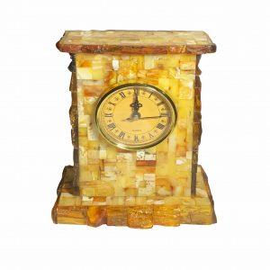 Natural Amber Table Clock