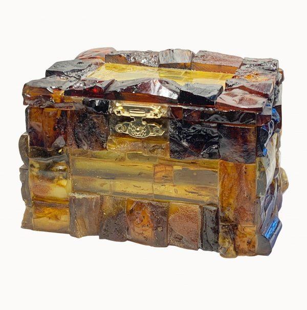 Amber Jewellery Box Casket