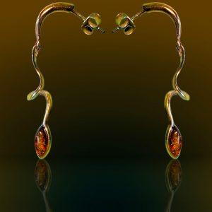 Amber Earrings Gold 585