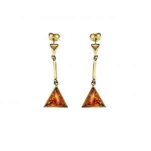 Amber Earrings made of Gold 585